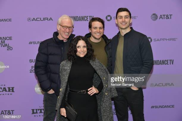 Brad Hall Julia LouisDreyfus Henry Hall and Charlie Hall attend the 2020 Sundance Film Festival Downhill Premiere at Eccles Center Theatre on January...