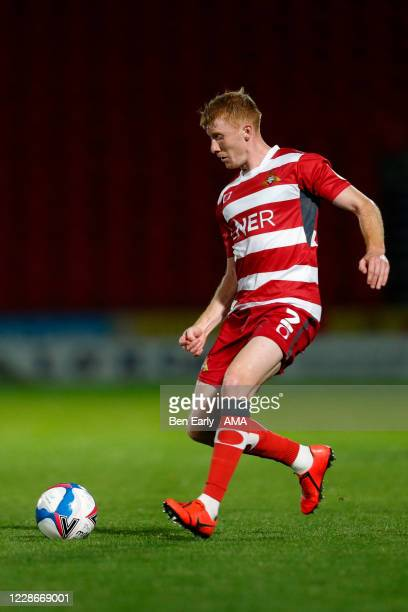 Brad Halliday of Doncaster Rovers during the EFL Trophy match between Doncaster Rovers v Bradford City at Keepmoat Stadium on September 8 2020 in...