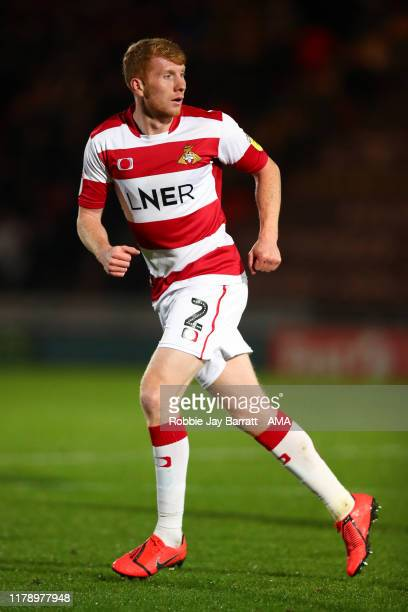 Brad Halliday of Doncaster Rovers during the Leasingcom Trophy match fixture between Doncaster Rovers and Manchester United U21's at Keepmoat Stadium...