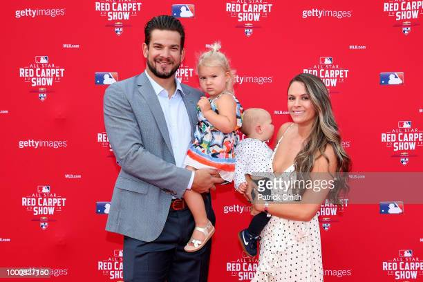 Brad Hand of the San Diego Padres and the National League and guests attend the 89th MLB AllStar Game presented by MasterCard red carpet at Nationals...