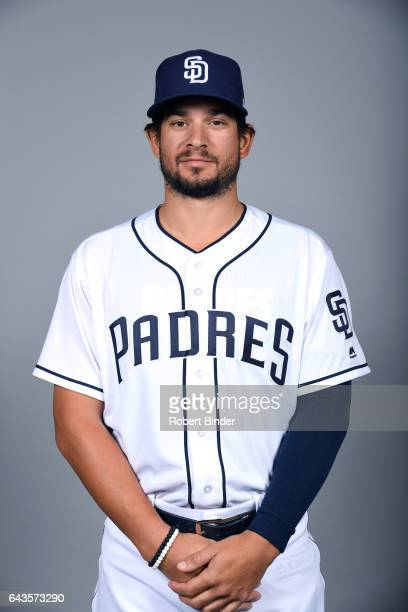 Brad Hand of the San Diego Padres poses during Photo Day on Sunday February 19 2017 at Peoria Stadium in Peoria Arizona