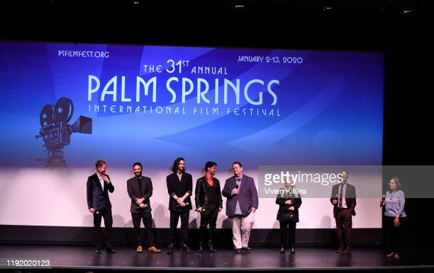 Brad Hennig, Garrett Baer, Allister MacDonald, Oscar Moreno, Thom Fitzgerald, Jacki Weaver, J. Todd Harris and Jane Schoettle speak on stage after...