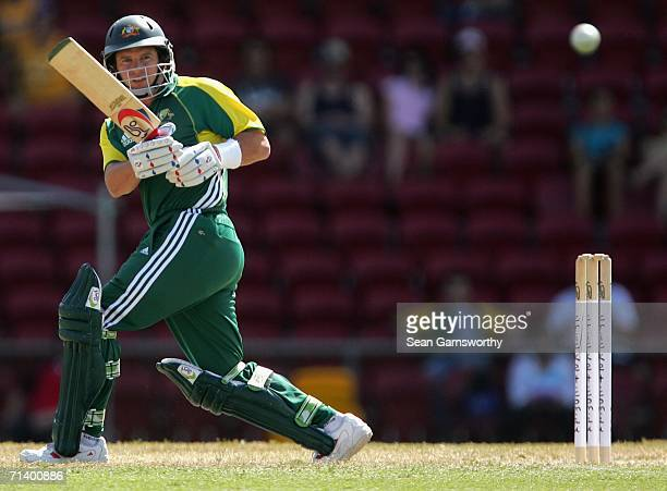 Brad Hodge of Australia A in action during the Top End Series Twenty20 match between Australia A and New Zealand A at Marrara Stadium July 9, 2006 in...