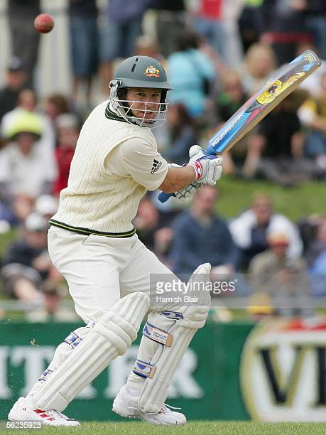 Brad Hodge of Australia in action during day three of the Second Test between Australia and the West Indies played at Bellerive Oval on November 19...