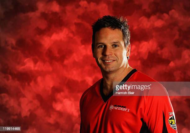 Brad Hodge of the Melbourne Renegades poses for a portrait ahead of the launch of the KFC T20 Big Bash League on July 26 2011 in Sydney Australia