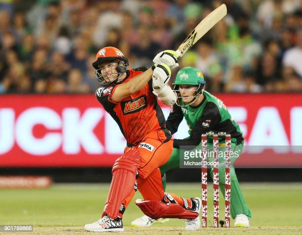 Brad Hodge of the Renegades bats during the Big Bash League match between the Melbourne Stars and the Melbourne Renegades at Melbourne Cricket Ground...