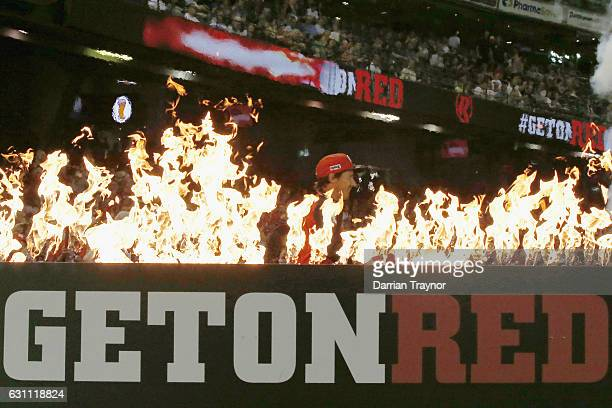 Brad Hogg of the Melbourne Renegades runs out before the Big Bash League match between the Melbourne Renegades and the Melbourne Stars at Etihad...
