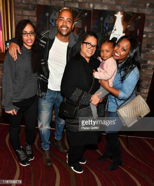 Brad James Denise Pulliam Ella Grace and Actress Keshia Knight Pulliam attend Netflix's Klaus Atlanta screening at Cinebistro on November 13 2019 in...