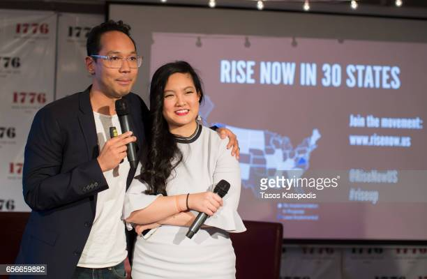 Brad Jenkins and Amanda Nguyen attends Rise and Funny Or Die's PSA premiere hosted by Tatiana Maslany on March 22 2017 in Washington DC