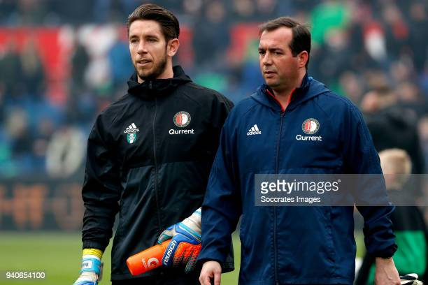 Brad Jones of Feyenoord during the Dutch Eredivisie match between Feyenoord v Excelsior at the Stadium Feijenoord on April 1 2018 in Rotterdam...