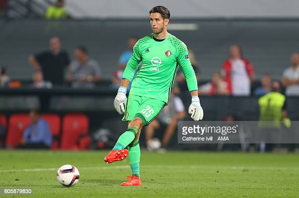 Brad Jones of Feyenoord during the UEFA Europa League match between Feyenoord and Manchester United at Feijenoord Stadion on September 15 2016 in...