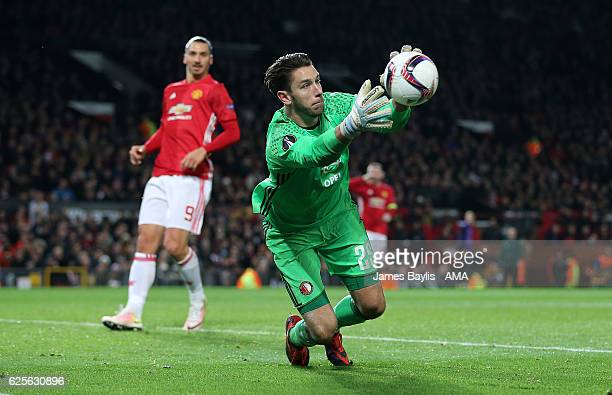 Brad Jones of Feyenoord during the UEFA Europa League match between Manchester United FC and Feyenoord at Old Trafford on November 24 2016 in...