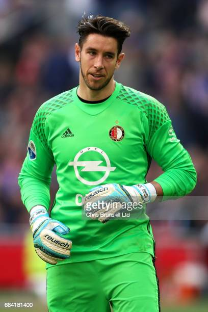 Brad Jones of Feyenoord looks on during the Eredivisie match between AFC Ajax and Feyenoord at Amsterdam Arena on April 2 2017 in Amsterdam...