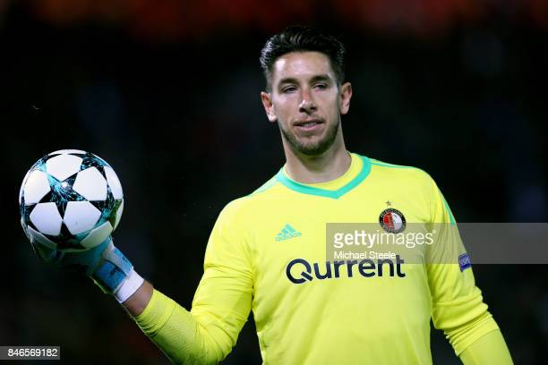 Brad Jones of Feyenoord looks on during the UEFA Champions League group F match between Feyenoord and Manchester City at Feijenoord Stadion on...