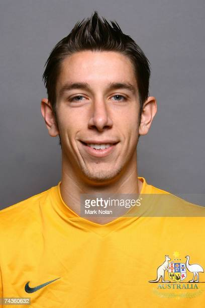 Brad Jones poses for the Socceroos team portrait session at the Parramatta Crowne Plaza Hotel May 31 2007 in Sydney Australia