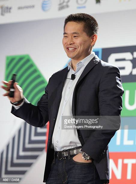 Brad Katsuyama CEO and cofounder of the IEX speaks onstage at 'How to Disrupt Wall St The Flash Boys Blueprint' during the 2015 SXSW Music Film...