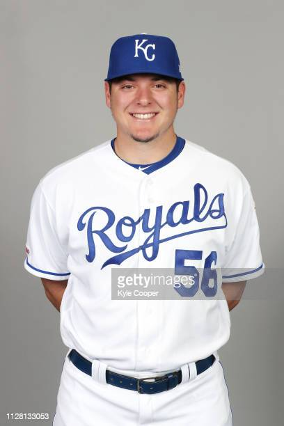 Brad Keller of the Kansas City Royals poses during Photo Day on Thursday February 21 2019 at Surprise Stadium in Surprise Arizona