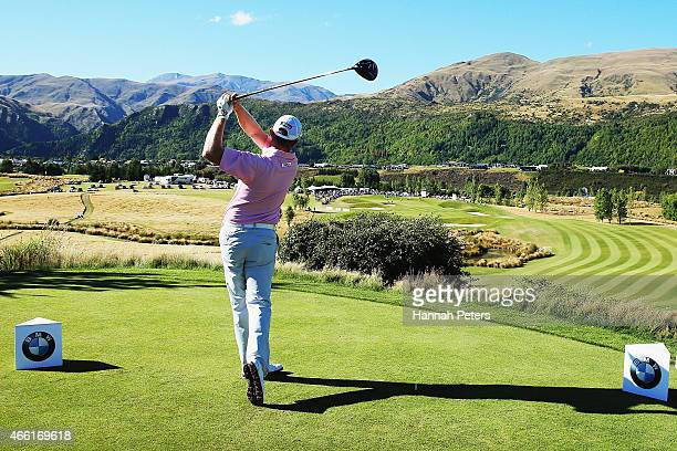 Brad Kennedy of Australia tees off during day three of the New Zealand Open at The Hills Golf Club on March 14 2015 in Queenstown New Zealand