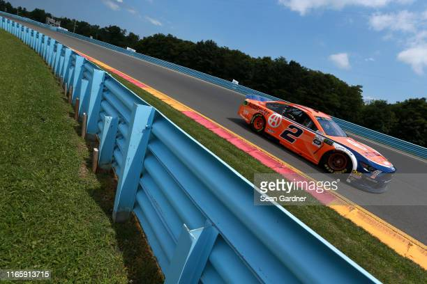 Brad Keselowski, driver of the Autotrader Ford, drives during practice for the Monster Energy NASCAR Cup Series Go Bowling at The Glen at Watkins...