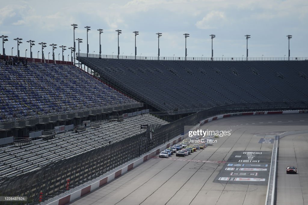 NASCAR Cup Series The Real Heroes 400 : News Photo