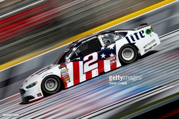 Brad Keselowski driver of the Miller Lite Ford practices for the Monster Energy NASCAR Series CocaCola 600 at Charlotte Motor Speedway on May 27 2017...