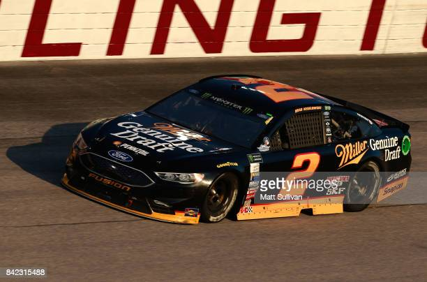 Brad Keselowski drives the Miller Genuine Draft Ford during the Monster Energy NASCAR Cup Series Bojangles' Southern 500 at Darlington Raceway on...