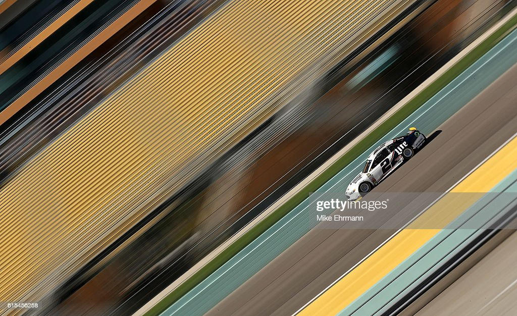 Brad Keselowski, drives the #2 Penske Racing Ford during testing at Homestead-Miami Speedway on October 18, 2016 in Homestead, Florida.