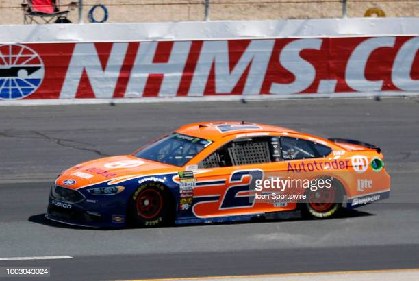 Brad Keselowski Monster Energy NASCAR Cup Series driver of the Autotrader Ford during practice for the Foxwoods Resort Casino 301 on July 21 at New...