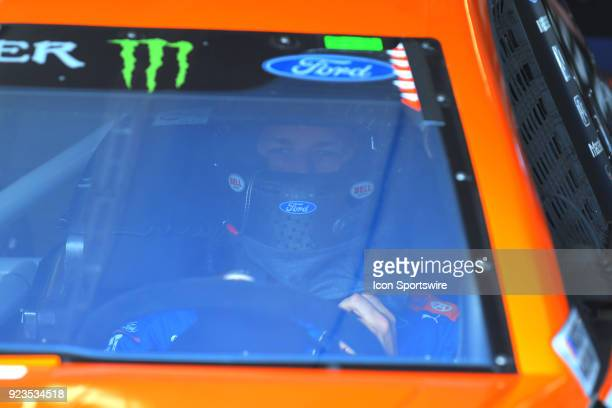 Brad Keselowski Penske Racing AutoTrader Ford Fusion during practice for the Monster Energy Cup Series Folds of Honor Quiktrip 500 on February 23 at...