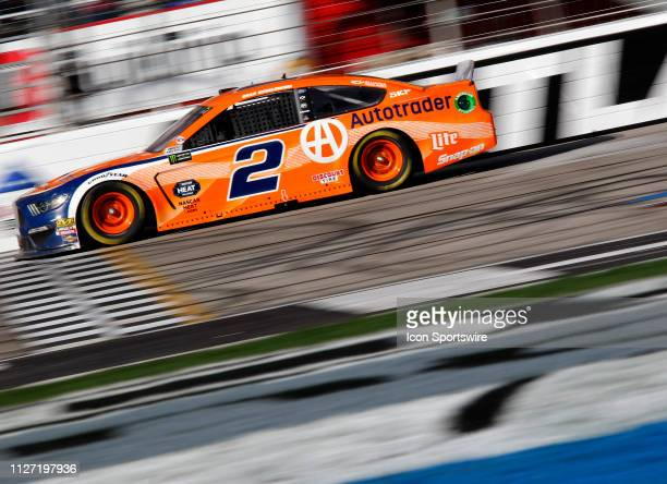 Brad Keselowski, Team Penske, Ford Mustang during the running of the Folds of Honor QuikTrip 500 on February 24,2019 at Atlanta Motor Speedway in...