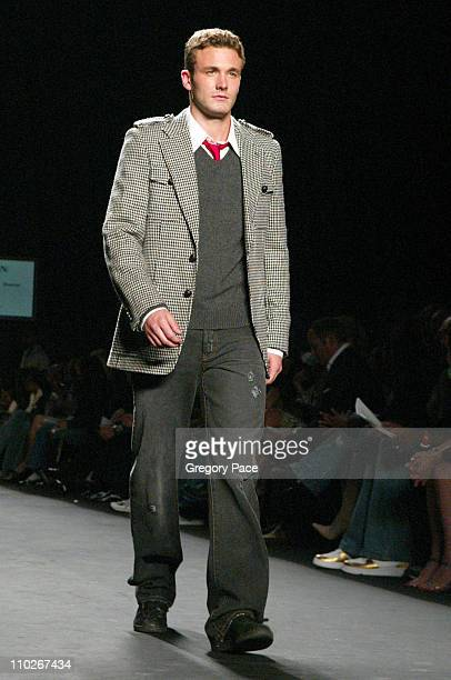 Brad Koenig during Olympus Fashion Week Spring 2006 Fashion For Relief On the Runway at Bryant Park in New York City New York United States