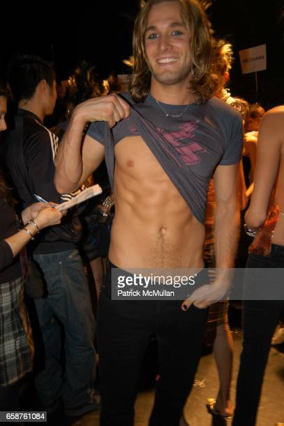Brad Kroenig attends Betsey Johnson fashion show at held at the Irving Plaza on February 9 2004 in New York City