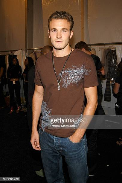 Brad Kroenig attends John Bartlett Spring Collection 2006 at The Tent at Bryant Park on September 9 2005 in New York City
