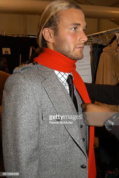 Brad Kroenig attends Michael Kors Fall 2005 Fashion Show at The Tent at Bryant Park on February 9 2005 in New York City