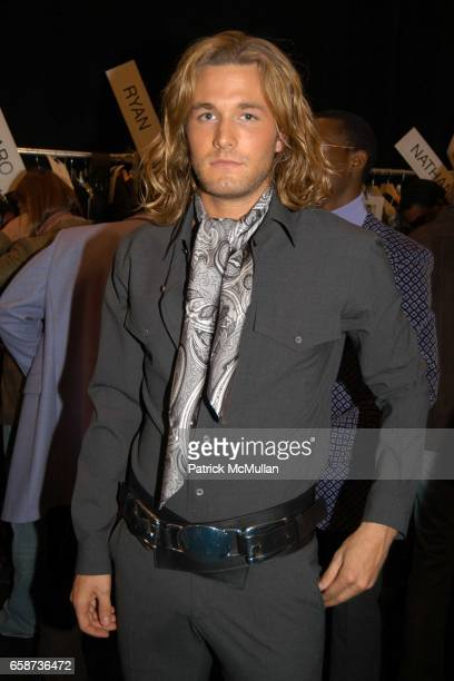 Brad Kroenig attends Michael Kors fashion show at at the tents on February 11 2004 in New York City