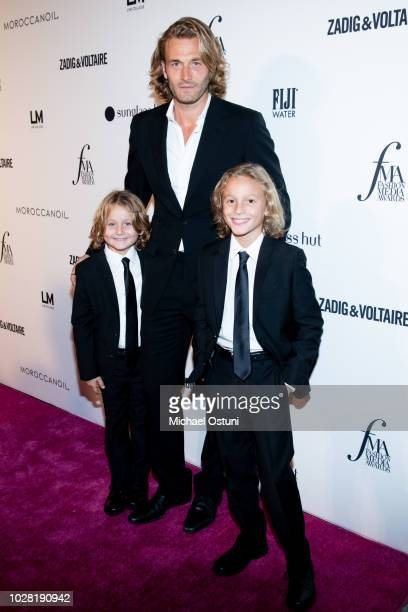 Brad Kroenig Hudson Kroenig and Jameson Kroenig attend The Daily Front Row 6th Annual Fashion Media Awards at Park Hyatt New York on September 6 2018...