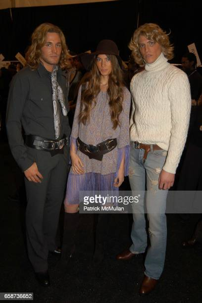 Brad Kroenig Jessica Miller and Mike attend Michael Kors fashion show at at the tents on February 11 2004 in New York City