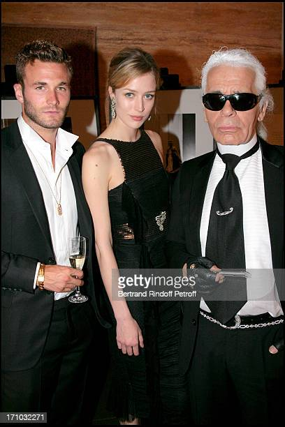Brad Kroenig Rachel Zimmermann and Karl Lagerfeld Dinner at the Fendi Palazzo in Rome for the launch of the new perfume Palazzo