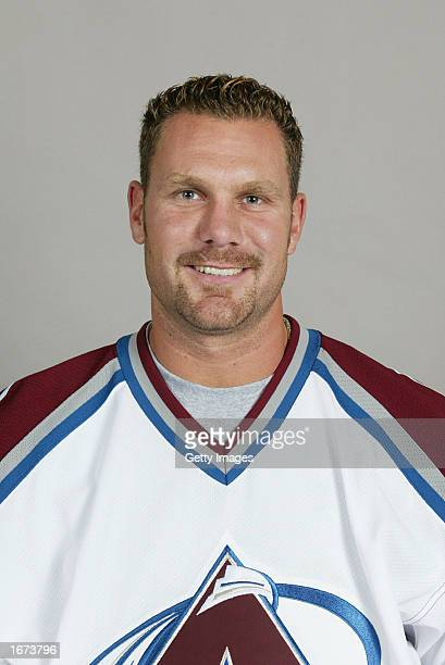 Brad Larsen of the Colorado Avalanche poses for a portrait on September 1 2002 at the Pepsi Center in Denver Colorado