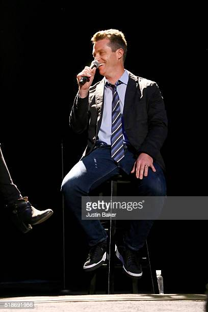 Brad Listi attends Literary Death Match's 10 Year Anniversary at The Theatre at Ace Hotel on April 1 2016 in Los Angeles California