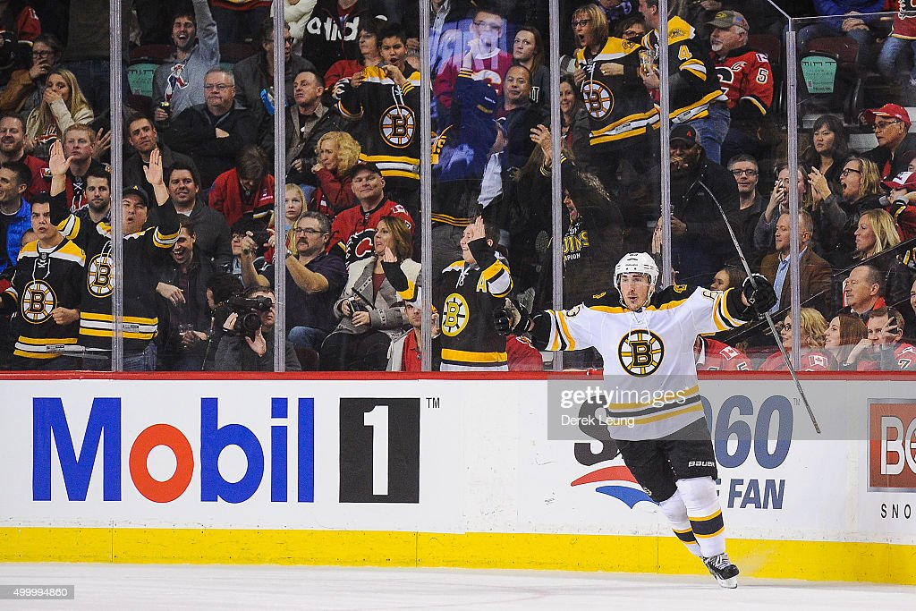 Boston Bruins v Calgary Flames : News Photo