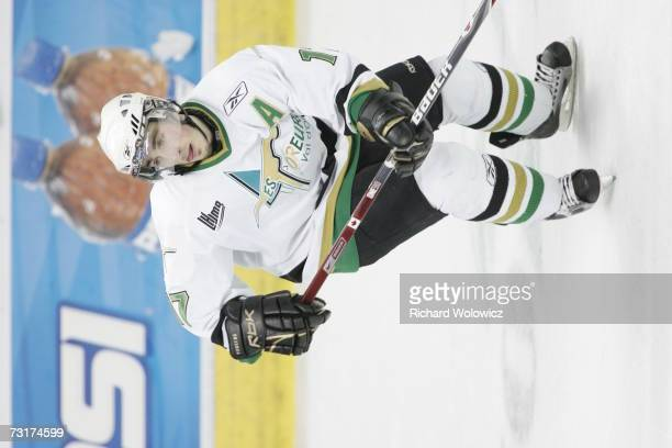 Brad Marchand of the Val D'Or Foreurs skates during the game against the Quebec City Remparts at Colisee Pepsi on January 31, 2007 in Quebec City,...