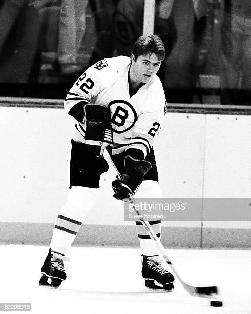 Brad McCrimmon of the Boston Bruins skates in pre game warm up at the Boston Garden