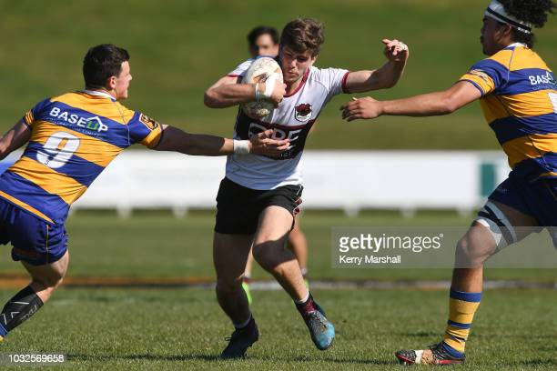 Brad McNaughten of North Harbour in action during the Jock Hobbs Memorial National U19 Tournament on September 12 2018 in Taupo New Zealand