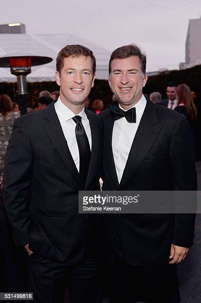 Brad Myslinski and Christian Stracke attend the MOCA Gala 2016 at The Geffen Contemporary at MOCA on May 14, 2016 in Los Angeles, California.