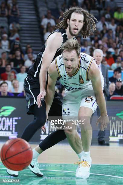 Brad Newley of the Kings loses the ball during the round nine NBL match between Melbourne United and the Sydney Kings at Hisense Arena on December 11...
