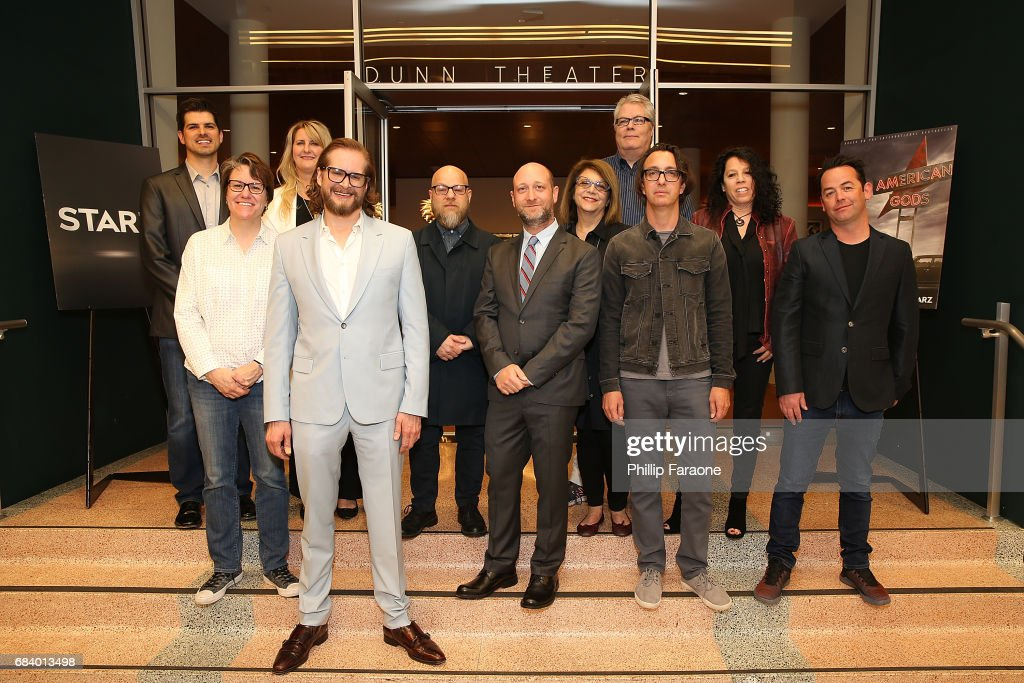 Brad North, Amy Duddleston, Bernice Howes, Bryan Fuller, David Slade, Michael Green, Margery Simkin, Bruce Carse, Brian Reitzell, Orly Sitowitz, and Darran Tiernan attend the 'American Gods' Crafts FYC Event at Linwood Dunn Theater on May 16, 2017 in Los Angeles, California.