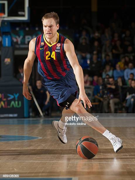 Brad Oleson #24 of FC Barcelona in action during the 20132014 Turkish Airlines Euroleague Top 16 Date 6 game between FC Barcelona Regal v EA7 Emporio...