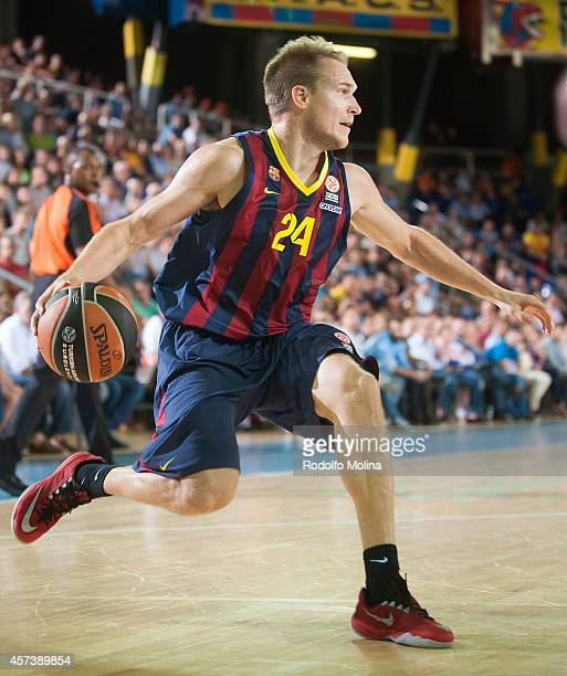 Brad Oleson of FC Barcelona in action during the 20142015 Turkish Airlines Euroleague Basketball Regular Season Date 1 between FC Barcelona v FC...