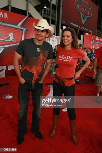 Brad Paisley and Kimberly Williams during Premiere of Disney Pixar's CARS at Lowe's Motor Speedway at Lowe's Motor Speedway in Charlotte NC United...
